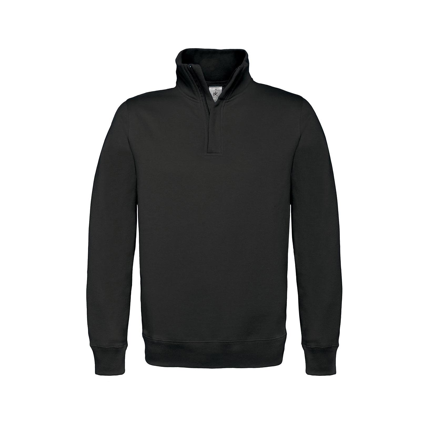 B&C ID.004 Cotton Rich Zipsweater